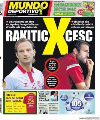 Rakitic ficha por el Barça: Las portadas