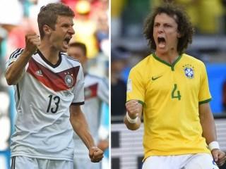 Alineación y la previa Brasil-Alemania. Semifinales