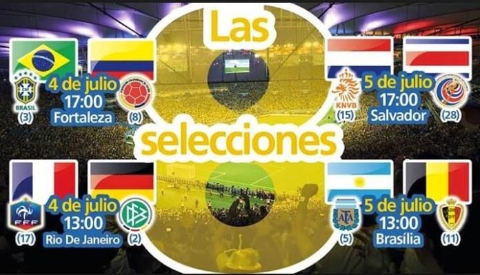 Cuartos de final Mundial Brasil 2014