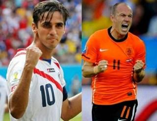 Alineación y la previa Holanda-Costa Rica. Cuartos de final