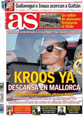 Portada AS: fichaje de Toni Kross