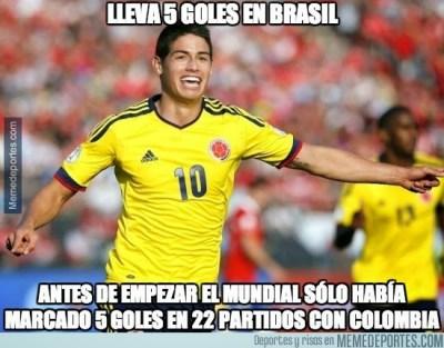 Memes y chistes de los Cuartos de Final: Mundial Brasil james rodriguez