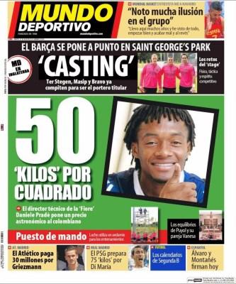 Portada Mundo Deportivo: 50 kilos por Cuadrado