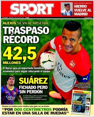 Alexis Sport: Portada Mundo Deportivo