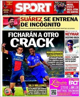 Portada Sport: los fichajes del Barça