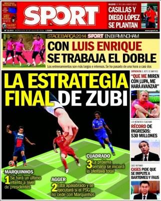 Portada Sport: pretemporada 2014-2015