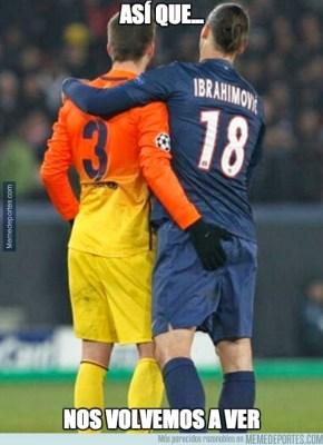 pique ibrahimovich Los mejores memes: sorteo Champions League 2014/15