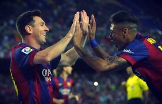 Messi y Neymar trofeo joan gamper 2014