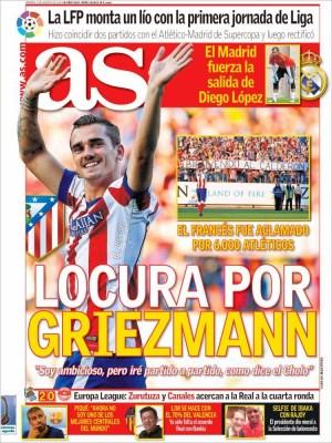 Portada As: Griezmann ficha por el Atlético