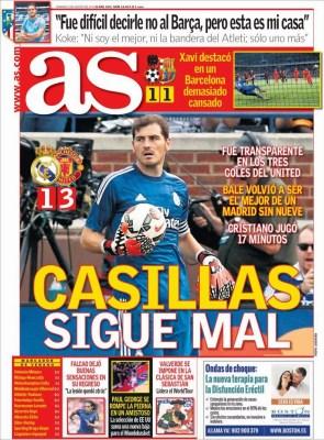 Portada AS: Casillas sigue mal