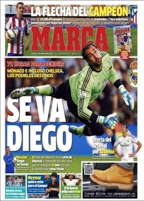 Portada Marca: Griezmann ficha por el Atlético