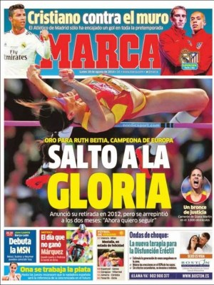 Portada Marca: Supercopa Real Madrid vs. Atlético