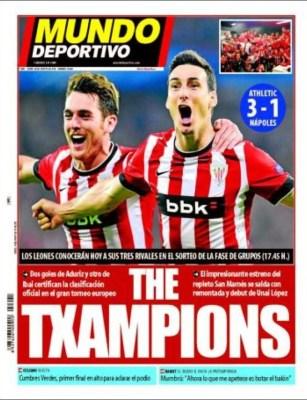 Portada Mundo Deportivo: el Athletic es de Champions