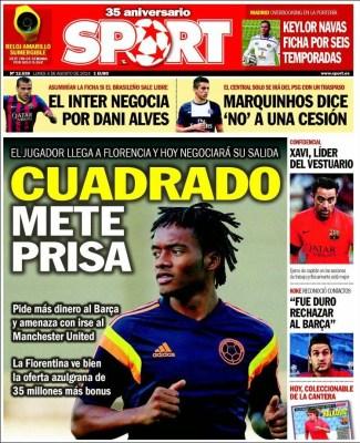 Portada Sport: Keylor Navas ficha por el Real Madrid