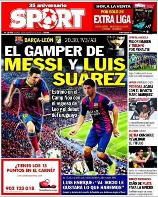 Portada Sport: Trofeo Joan Gamper