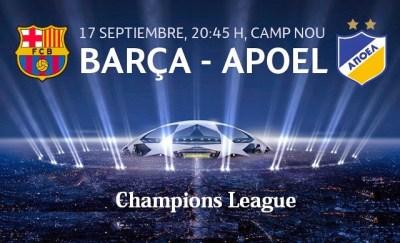 Alineación Barcleona-Apoel: Champions 2014