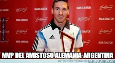 memes cargadas argentina alemania amistoso messi