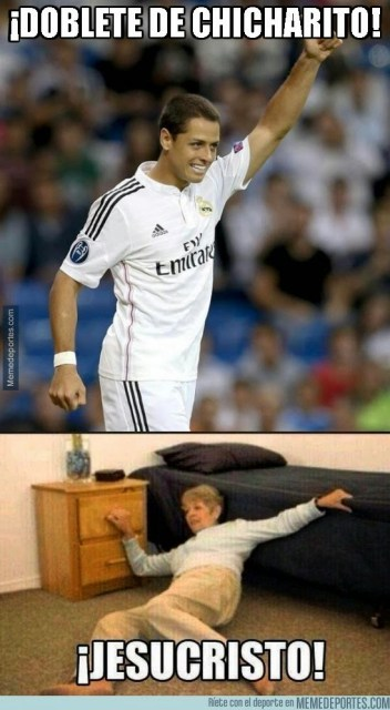 doblete de chicharito memes Los mejores memes de la goleada del Real Madrid sobre el Deportivo