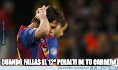 Los mejores memes de la goleada del Barcelona al Levante messi falla penal