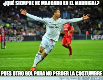 Los mejores memes del Partido Villarreal-Real Madrid ronaldo