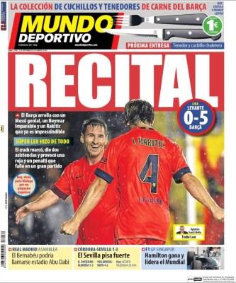 Portada Mundo Deportivo: Recital blaugrana