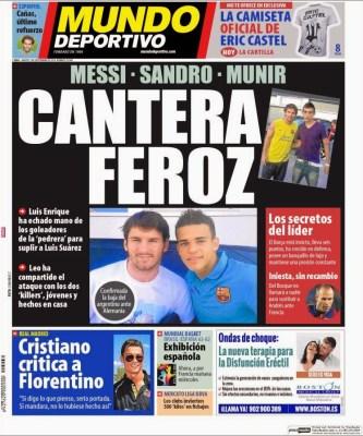 Portada Mundo Deportivo: el Barça está feliz con sus canteranos