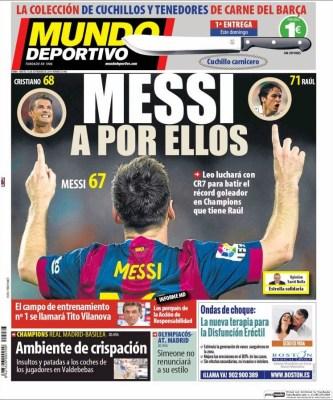 Portada Mundo Deportivo: Vuelve la Champions League