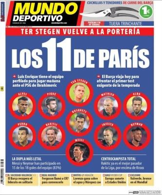 Portada Mundo Deportivo: PSG vs Barça