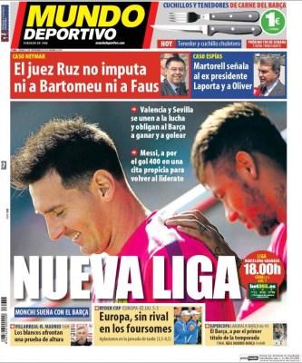 Portada Mundo Deportivo: nueva liga