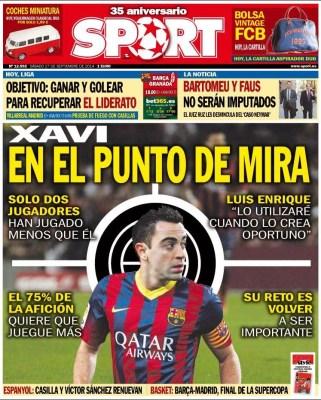 Portada Sport: Xavi Hernández