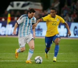 Argentina 0-Brasil 2. Amistoso internacional en Pekín
