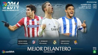 Premios LFP: Costa, Ronaldo y Vela