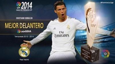 Mejor delantero, Cristiano Ronaldo: Premios LFP 2013-2014