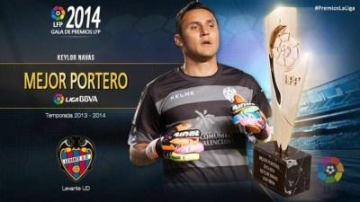 Mejor portero, Keylor Navas: Premios LFP 2013-2014