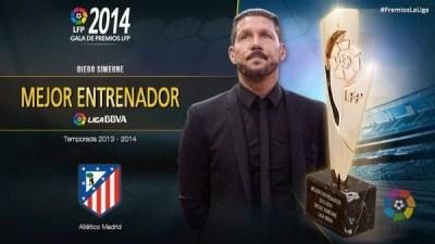 Mejor entrenador, cholo Simeone: Premios LFP 2013-2014