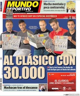 Portada Mundo Deportivo: se viene el clásico