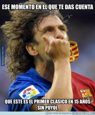 Los memes de la previa Real Madrid-Barcelona: el clásico puyol