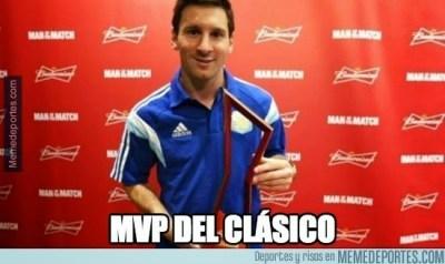 Los memes del clásico Real Madrid-Barcelona: Jornada 9 messi mvp