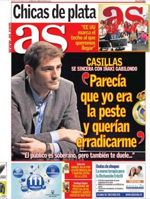 Portada AS: Iker Casillas se confiesa