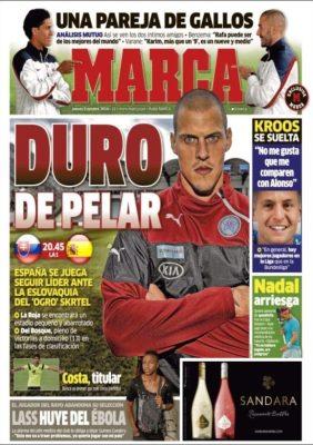 Portada Marca: Eslovaquia vs. España
