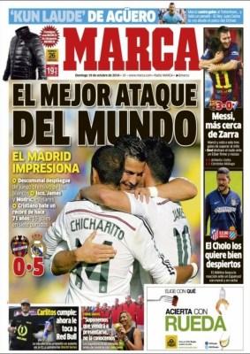 Portada Marca: Real Madrid demoledor