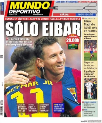 Portada Mundo Deportivo: Messi busca el récord de Zarra