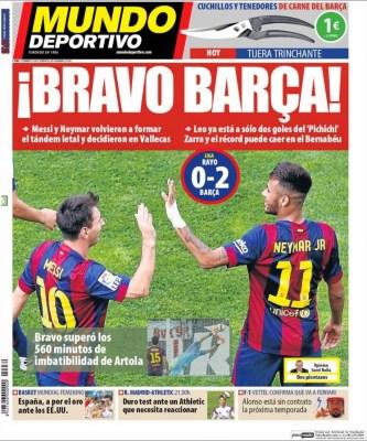 Portada Mundo Deportivo: Barça récord imbatibilidad claudio bravo