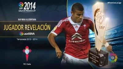 Premios LFP 2013-2014: Liga Española BBVA rafinha jugador revelacion