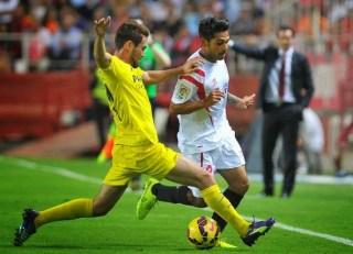 Sevilla 2-Villarreal 1. Jornada 9 Liga Española