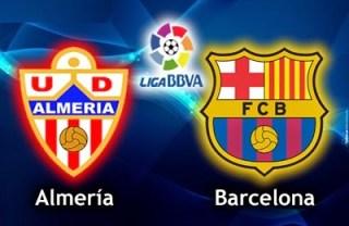 Alineación y la previa Almería-Barcelona. Jornada 11