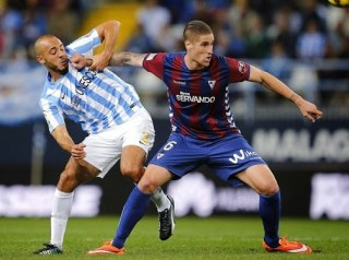 Málaga 1-Éibar 1. Jornada 11 Liga Española