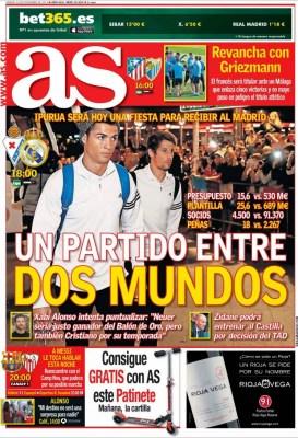 Portada AS: Éibar recibe al Real Madrid