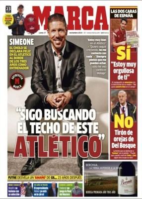 Portada Marca: el cholo Simeone