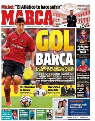 Portada Marca: Asensio ficha por el Real Madrid